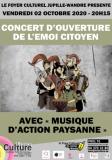 CONCERT D'OUVERTURE DE L'EMOI CITOYEN AVEC « MUSIQUE D'ACTION PAYSANNE »